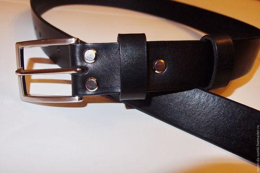 Пояса, ремни ручной работы. Ярмарка Мастеров - ручная работа. Купить Ремень кожаный black 01-04.. Handmade. Ремень