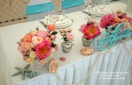 Свадебные цветы ручной работы. Ярмарка Мастеров - ручная работа. Купить Свадьба на берегу. Handmade. Коралловый, оформление свадьбы, цветы