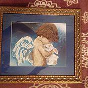 Картины и панно ручной работы. Ярмарка Мастеров - ручная работа Ангел с кроликом. Handmade.