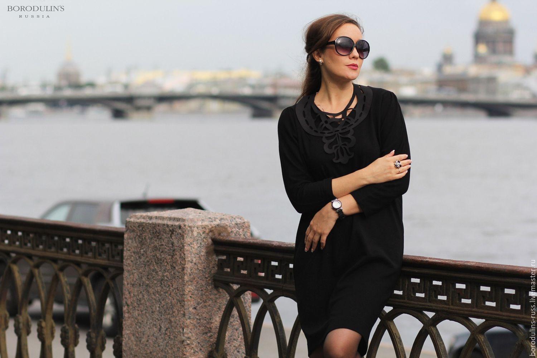 """Платья ручной работы. Ярмарка Мастеров - ручная работа. Купить Платье с украшением"""" Северная Венеция"""". Handmade. Черный, стильное платье"""