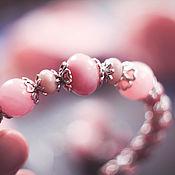 """Украшения ручной работы. Ярмарка Мастеров - ручная работа Браслет """"Жизнь в розовом цвете"""". Handmade."""