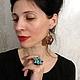 Кольца ручной работы. Кольцо из меди «Цвет бирюзы» (color turquoise). Своя История. Ярмарка Мастеров. Крупное кольцо