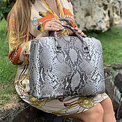 Сумки и аксессуары handmade. Livemaster - original item Delica Python leather bag. Handmade.