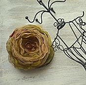 Украшения handmade. Livemaster - original item Brooch made of fabric drop of dew. Handmade.