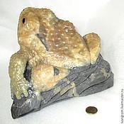 Для дома и интерьера ручной работы. Ярмарка Мастеров - ручная работа Жаба из симбирцита, натурального природного камня. Handmade.