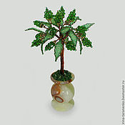 Trees handmade. Livemaster - original item Tree of happiness from olivine in a vase of onyx. Handmade.