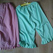 Одежда ручной работы. Ярмарка Мастеров - ручная работа домашние брюки из хлопка. Handmade.