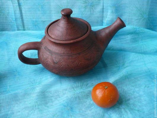 Чайники, кофейники ручной работы. Ярмарка Мастеров - ручная работа. Купить Чайник большой. Handmade. Коричневый, керамика ручной работы, чаепитие