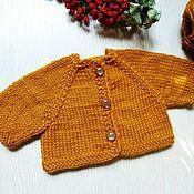 handmade. Livemaster - original item Knitted cardigan jacket for dolls, doll clothes. Handmade.
