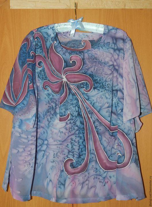 Блузки ручной работы. Ярмарка Мастеров - ручная работа. Купить Блуза Фантазия. Handmade. Комбинированный, батик блуза, единственный экземпляр