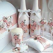 Аксессуары ручной работы. Ярмарка Мастеров - ручная работа Бутылки свадебные. Handmade.