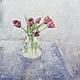 Картины цветов ручной работы. Ярмарка Мастеров - ручная работа. Купить Тюльпаны. Handmade. Живопись, цветы, бежевый, бордовый, картина