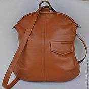 """Рюкзаки ручной работы. Ярмарка Мастеров - ручная работа Кожаный рюкзак - сумка """" Невыносимая легкость бытия"""". Handmade."""