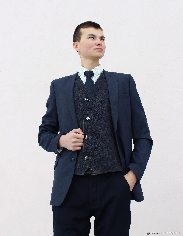 Classic men's vest ' Graphite', Mens vests, Magnitogorsk,  Фото №1