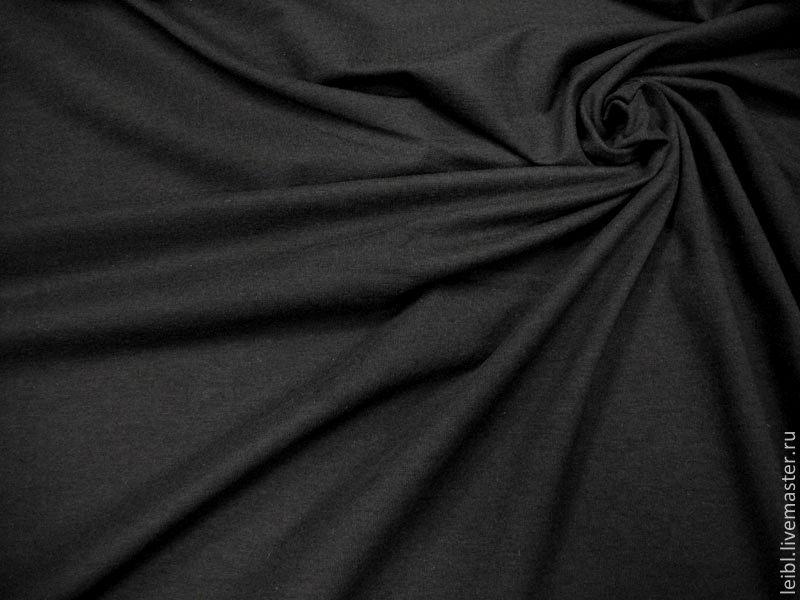 ВИСКОЗНЫЙ ТРИКОТАЖ ( черный ), Ткани, Санкт-Петербург,  Фото №1