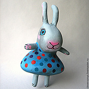 Куклы и игрушки ручной работы. Ярмарка Мастеров - ручная работа зайка в праздничном платье. Handmade.