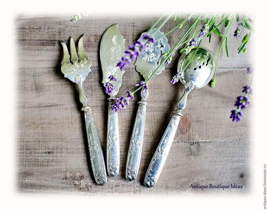 Винтажная посуда. Ярмарка Мастеров - ручная работа. Купить 1889 - 1893 Французский антикварный серебряный набор для фуа-гра. Handmade.