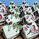 Кулинарные сувениры ручной работы. Ярмарка Мастеров - ручная работа. Купить Мини - Пряничный домик со снегирем. Handmade. Логотип