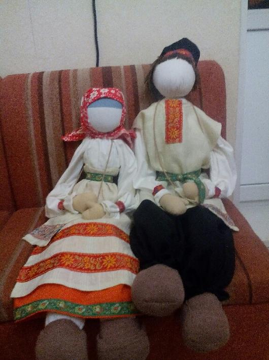 Народные куклы ручной работы. Ярмарка Мастеров - ручная работа. Купить Куклы русские, пара. Handmade. Русские куклы, handmade