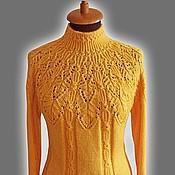 Одежда ручной работы. Ярмарка Мастеров - ручная работа Желтый свитер. Handmade.