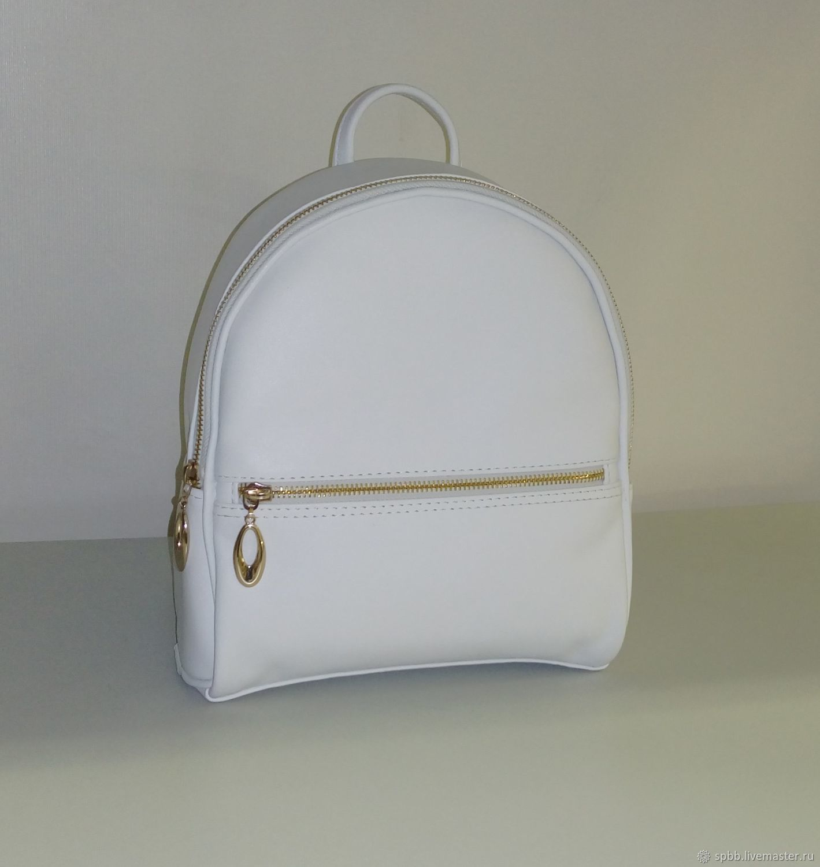 Backpack leather ' White', Backpacks, St. Petersburg,  Фото №1
