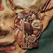 """Украшения ручной работы. Ярмарка Мастеров - ручная работа """"Chaenomeles speciosa"""" колье и шарфик. Handmade."""