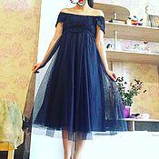 Одежда винтажная ручной работы. Ярмарка Мастеров - ручная работа Шикарное вечернее винтажное платье Звёздная ночь. Handmade.