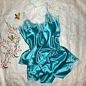 Одежда handmade. Livemaster - original item Silk sleep set