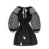 """Одежда ручной работы. Ярмарка Мастеров - ручная работа Платье-вышиванка """"Ночной Барвинок"""". Handmade."""