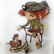 Куклы и игрушки ручной работы. Ярмарка Мастеров - ручная работа Домашний эльфик Эрих и  кот Томас. Коллекционная кукла. Handmade.