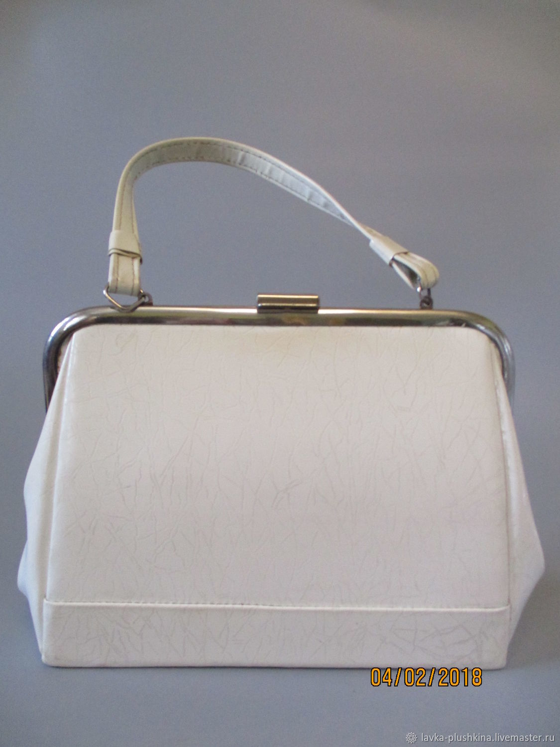 Bag White Patent Leather Vintage 80s Sovok Online Ping On My