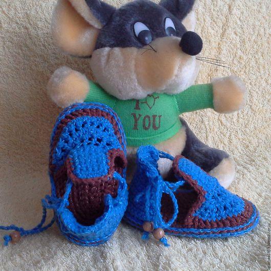 Детская обувь ручной работы. Ярмарка Мастеров - ручная работа. Купить пинетки сандалики летние. Handmade. Пинетки, пинетки для малыша