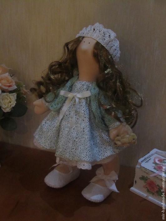 Куклы тыквоголовки ручной работы. Ярмарка Мастеров - ручная работа. Купить Интерьерная текстильная кукла. Handmade. Бежевый, кукла текстильная