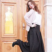 Одежда handmade. Livemaster - original item Long warm skirt with inverted pleats. Handmade.