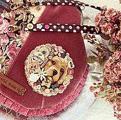 Сумки и аксессуары ручной работы. Ярмарка Мастеров - ручная работа Бохо-шебби розоваЯ собаЧка сумка купить в подарок лето. Handmade.