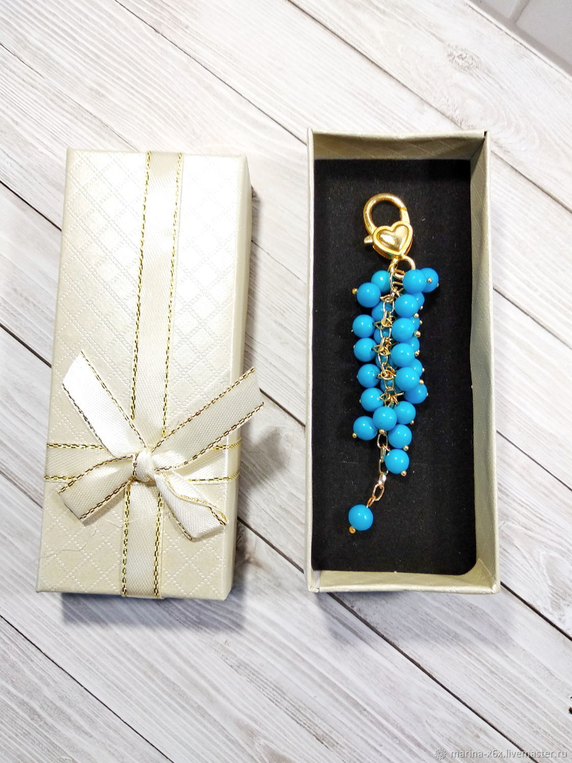 Keychain with turquoise, Key chain, Moscow,  Фото №1