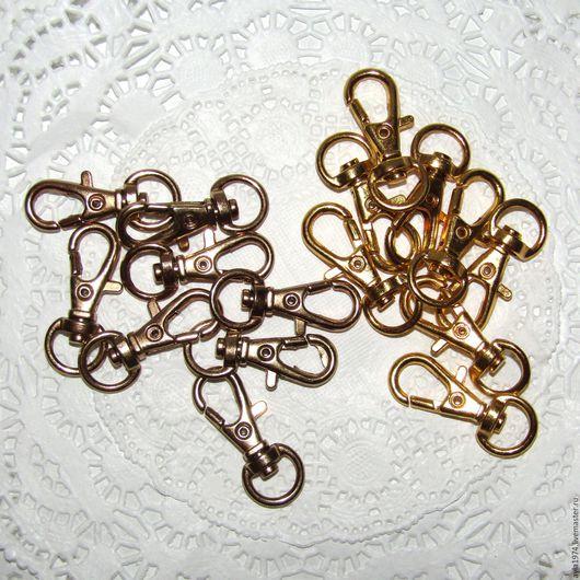 Другие виды рукоделия ручной работы. Ярмарка Мастеров - ручная работа. Купить Карабин 31 х 10 мм,2 цвета,золото. Handmade.