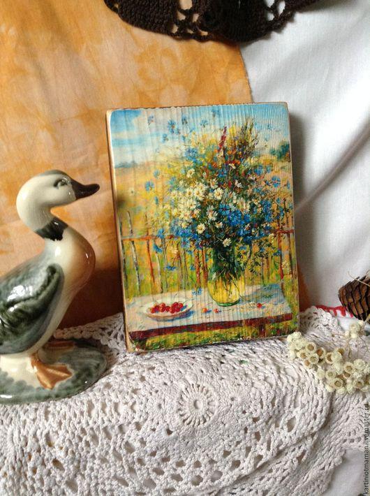 Картины цветов ручной работы. Ярмарка Мастеров - ручная работа. Купить Букет полевой.. Handmade. Полевые цветы, букет цветов