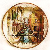 """Посуда ручной работы. Ярмарка Мастеров - ручная работа Тарелка """"Каналы Венеции"""". Handmade."""
