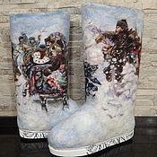 """Обувь ручной работы. Ярмарка Мастеров - ручная работа Валенки ручной работы """"Зимние забавы"""". Handmade."""