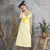 """Одежда ручной работы. Ярмарка Мастеров - ручная работа Платье жаккард  """" Желтая иволга"""". Handmade."""