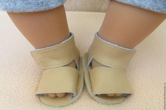 Одежда для кукол ручной работы. Ярмарка Мастеров - ручная работа. Купить Летние сандалики для куклы 3. Handmade. Беби бон