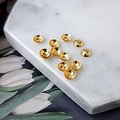 Материалы для творчества handmade. Livemaster - original item 10 PCs. Beanies for beads 4x1,5 mm color gold (4718). Handmade.