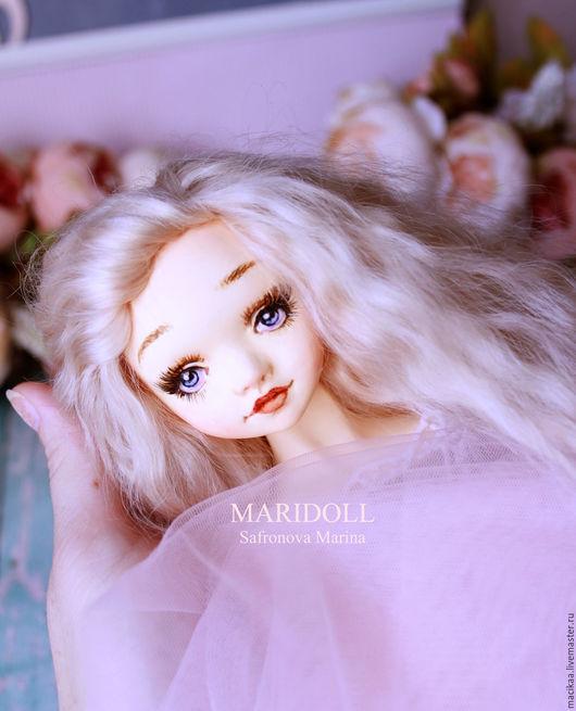 Коллекционные куклы ручной работы. Ярмарка Мастеров - ручная работа. Купить Интерьерная  подвижная кукла. Handmade. Подарок девушке, пряжа