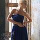 """Платья ручной работы. Вечернее платье цвета """"сапфир"""". Masha Koneva. Интернет-магазин Ярмарка Мастеров. Однотонный, платье в пол"""
