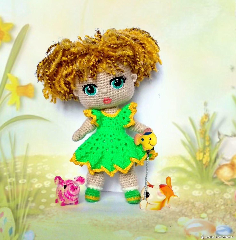 Куколка вязаная кукла маленькая куколка малышка на счастье на радость, Игрушки, Санкт-Петербург, Фото №1
