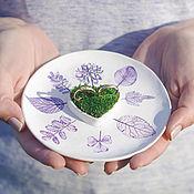Свадебный салон ручной работы. Ярмарка Мастеров - ручная работа Тарелка для колец / свадебная тарелочка для колец. Handmade.