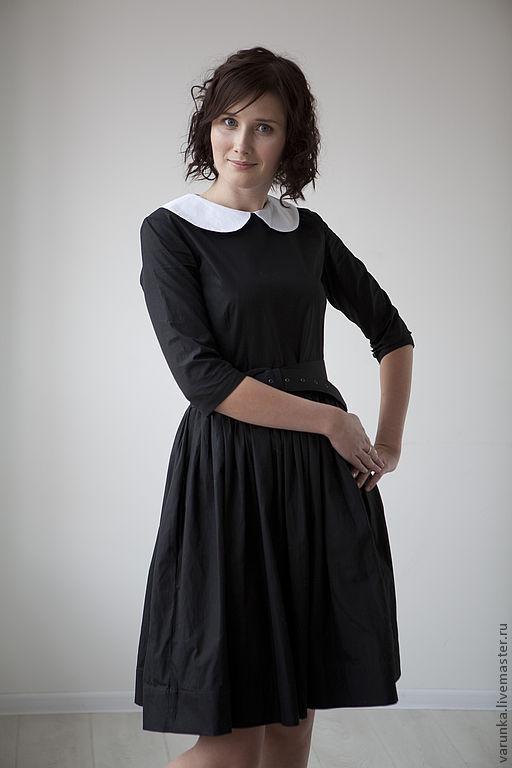 Повседневное черное платье купить