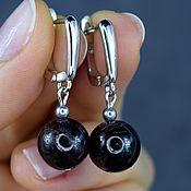 Украшения handmade. Livemaster - original item Garnet almandine Earrings made of natural stone. Handmade.