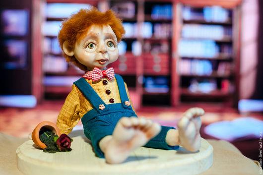 Коллекционные куклы ручной работы. Ярмарка Мастеров - ручная работа. Купить Неуклюжий гном Джефри. Handmade. Комбинированный, кукла в подарок